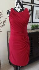 BOSTON PROPER Smocked Medallion Sheath Dress Cranberry - Size 10 - $149 - NWT
