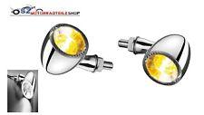 KELLERMANN Bullet 1000 PL white LED Blinker Chrom (2 Stück ) mit Positionslicht