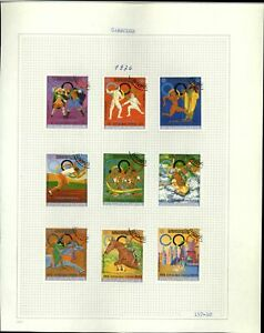 Cambodia 1976 Olympic Games Album Page Of Stamps #V20902