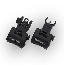 Low Profile Front & Rear Flip Up Rapid Transtion Iron Sight Set  Picatinny