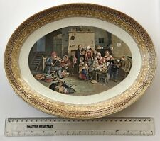1860's Pratt Prattware Oval Plaque - THE BLIND FIDDLER by David Wilkie, B.A.