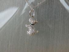 """925 silver   """"scottie dog   """"cz stones fine  silver chain"""