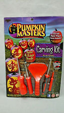 Halloween Pumpkin Masters Carving Kit Crafts 5 Tool Piece 1 Pattern Book New