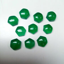 AAA Quality 10 Piece Green Onyx 10x10 MM Hexagon Cabochon Loose Gemstone