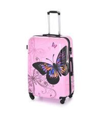 Maletas y equipaje rosa rígido