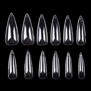 500pcs False Nails Art Pointy Stiletto Artificial Nail Tip Finger Salon Manicure
