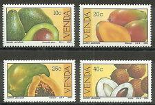 Venda - Früchte Satz postfrisch 1983 Mi. 82-85