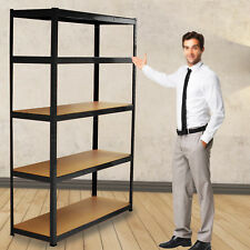 Metal Garage Shelving Racking Heavy Duty 5 Tier Storage Shelves Rack Shelf Unit