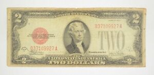 1928-F Red Seal $2 United States Note - Legal Tender - Historic *133