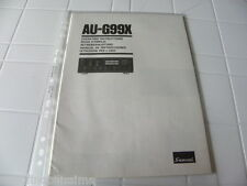 Sansui Au-g99x Owner's Manual Operating Instructions istruzioni