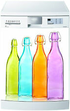 Sticker lave vaisselle déco cuisine électroménager bouteille coloré  712 60x60cm