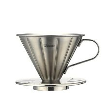 New Cafe de Tiamo V01 Stainless Steel Coffee Dripper w/ Measuring Spoon (HG5033)