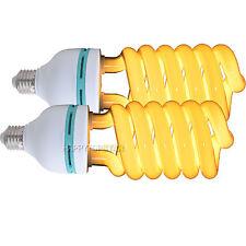 2X 2700K Warm Yellow 135W 220V CFL Light Bulb ④ Portrait Food Gadget Photo Video