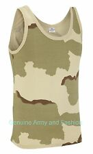 NEW COMBAT US DESERT ARMY SINGLETS SLEEVELESS VESTS TANK TOP FANCY DRESS