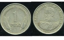 COLOMBIE 1 peso  1974  ( bis )
