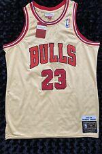 PREMIUM GOLD MITCHELL & NESS NBA MICHAEL JORDAN CHICAGO BULLS 95-96 JERSEY SZ L