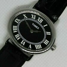 Timex Classic Dress Watch - New with black leather strap