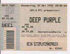DEEP PURPLE Used Ticket Berlin 07.10.1993