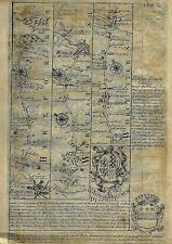 "Fine Owen & Bowen Map - ""HERFORDSHIRE & WORCESTER"" - Copper Engraving - 1720"