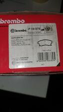 Vauxhall Astra j brake pads Brembo P59076