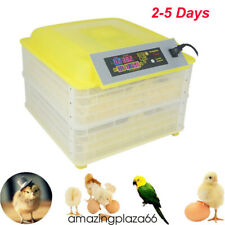 New listing 96 Egg Incubator Digital Auto Turner Chicken Poultry Bird Quail Clear Hatcher A+