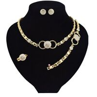 #2  18k Layered Real Gold filled so Set Necklace Bracelet RING SIZE 9