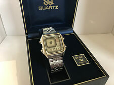 Seiko G757-5030 Silver Wave James Bond Octopussy Quartz LCD Vintage Watch