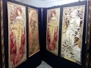 Tapisserie murale L'hiver Mucha Déco Jacquard 70x146 cm