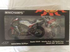 Minichamps V- Rossi 1.12 Scale Fiat Yamaha Team MotoGP Australia Year 2007.