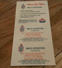 Vintage AMOCO Reservation Cards As You Travel Ask Us American Oil Motor Club Htf