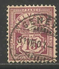 Switzerland #76 (A19) VF USED - 1889 15c Numeral