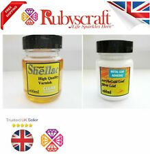 More details for gold/silver leaf size adhesive/glue/acrylic 60ml shellac varnish bottle