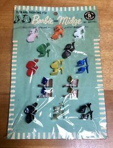 Vintage 1964 Barbie SHOE WARDROBE #1833 PAK 13 Pair NIP ~Complete & NICE!