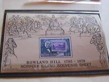 Norfolk Island, Roland Hill Erinnerungsblock, xx, Foto