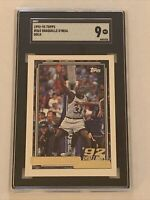 1992 TOPPS GOLD Shaquille O'Neal Rookie #362 SGC 9 Mint RC Not PSA HOF Magic