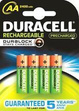 4 DURACELL Rechargeable Mignon AA 1,2V 2400mAh Duralock NiMH-Akku Accu Blister
