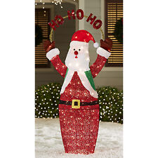 Holiday Living 5-ft Lighted Santa Freestanding Sculpture Christmas Outdoor Decor
