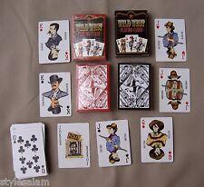 Western playing cards cowboy set of 2 standard deck NEW cowgirl outlaw lawmen