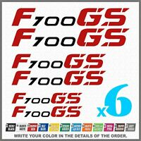 6x F700 GS Black/Red BMW MOTORRAD PEGATINA ADESIVI AUTOCOLLANT STICKERS