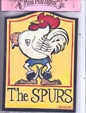 10 inch PUB SIGN bar inn tavern THE SPURS cock Tottenham Hotspurs football team