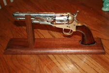 """14"""" Solid Walnut Wood Pistol Display Stand for BP Revolvers 5 1/2"""" - 6 1/2"""" bbl"""