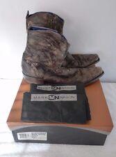 Mark Nason Mens Arlington Dk Brown & Copper Distressed Leather Boots Sz 10