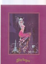 FOLIES BERGERE LAS VEGAS 2 DIFFERENT PROGRAMS ILLUSTRATED  BY LEROY NEIMAN