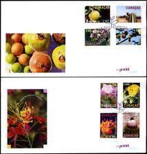 """Couracao 2012 """"Einheimische Flora"""", MiNr 111/8 auf 2 FDCs"""
