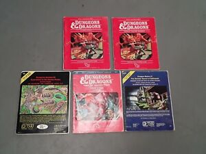 Lot Of 5 Vintage Early D&D Dungeons & Dragons Modules Rulebook Manual First 1stP