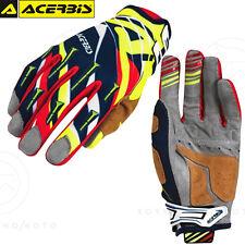 Coppia Guanti Acerbis MX X2 Motocross Enduro Off-road MTB Nero/giallo Tg. M