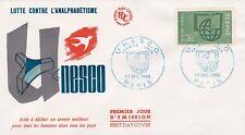 FRANCE 1966 FDC U N E S C O   NUMERO 38