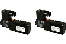 2x 110V AC Solenoid Air Pneumatic Control Valve 3 Port 3 Way 2 Position 1/4