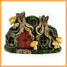 Fairy Garden Fun Tree Stump LED Lighted  Fairy House