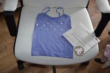 tee shirt lili gaufrette neuf bleu lavande avec etoiles 2/3 ans